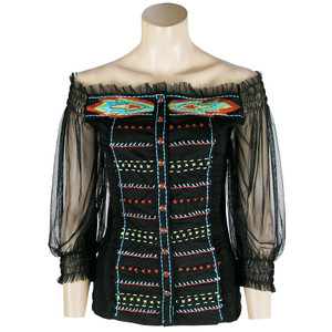 Top - Aztec Embroidered