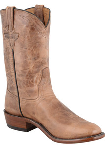 Rios of Mercedes Men's Tan Burnished Goat Roper Boots