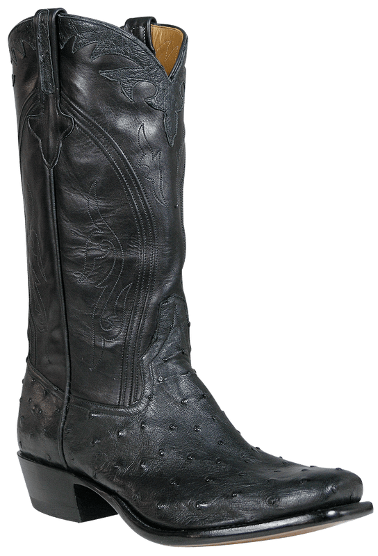 Rios of Mercedes Men's Black Full-Quill Ostrich Boots - Hero
