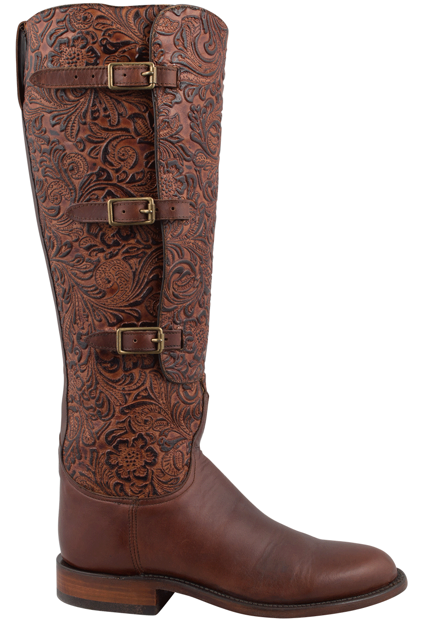 Lucchese Women S Tooled Lieutenant Boots Pinto Ranch