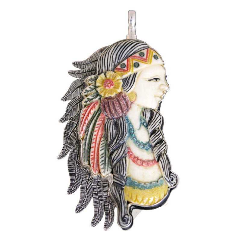 Coreen Cordova Indian Maiden Charm - Large
