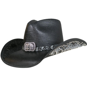 Bullhide Cowgirl Fantasy Straw Hat - Black
