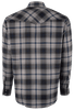 Miller Ranch Gray and Blue Plaid Snap Shirt - Back