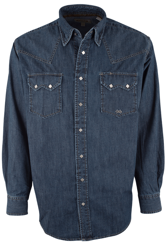 Miller Ranch Indigo Denim Snap Shirt - Front