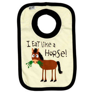 Infant - I Eat Like A Horse! Bib