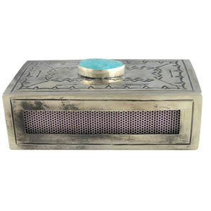 Silver Stamped Match Box Cover - Front