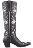 Liberty Boot Co. Women's Black and White 60's Cowgirl Boots - Side