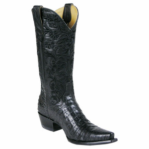 "Old Gringo Ladies ""Clarise"" Caiman Belly Boots - Black"
