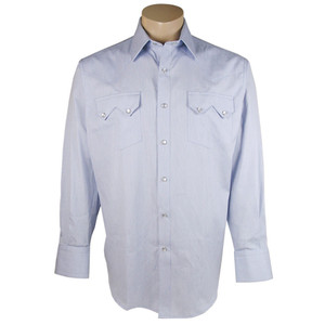Pinto Ranch - Dobby Stripe Snap Shirt - Blue