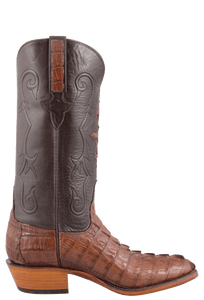 Lucchese Men's Cigar Hornback Caiman Tail Boots - Side