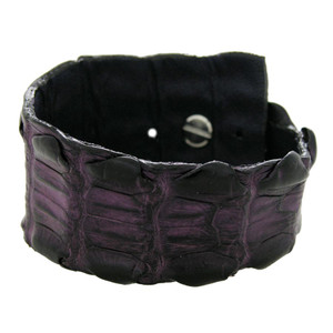 Kulu Crocodile Cuff - Purple