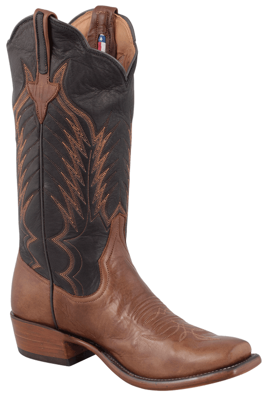 Rios of Mercedes Men's Chestnut and Black Remuda Boots - Hero