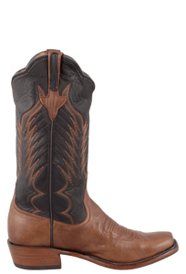 Rios of Mercedes Men's Chestnut and Black Remuda Boots - Side