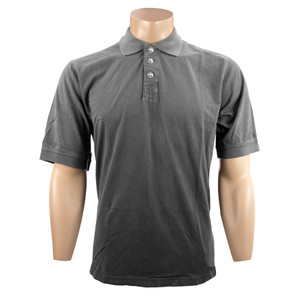 True Grit Short Sleeve Jersey Polo - Vintage Black