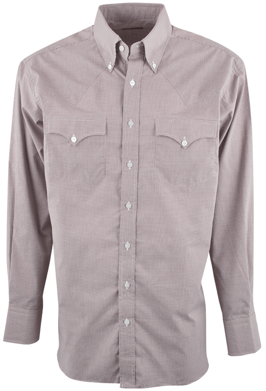 LYLE LOVETT FOR HAMILTON BROWN MICRO CHECK POPLIN SHIRT-FRONT