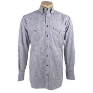 Lyle Lovett for Hamilton Chocolate Check Shirt