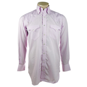 Lyle Lovett for Hamilton Pink Solid Poplin Shirt