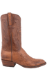 Lucchese Men's Barnwood Smooth Ostrich Boots - Side