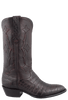 Stallion Men's Black Cherry Supreme Caiman Boots - Side