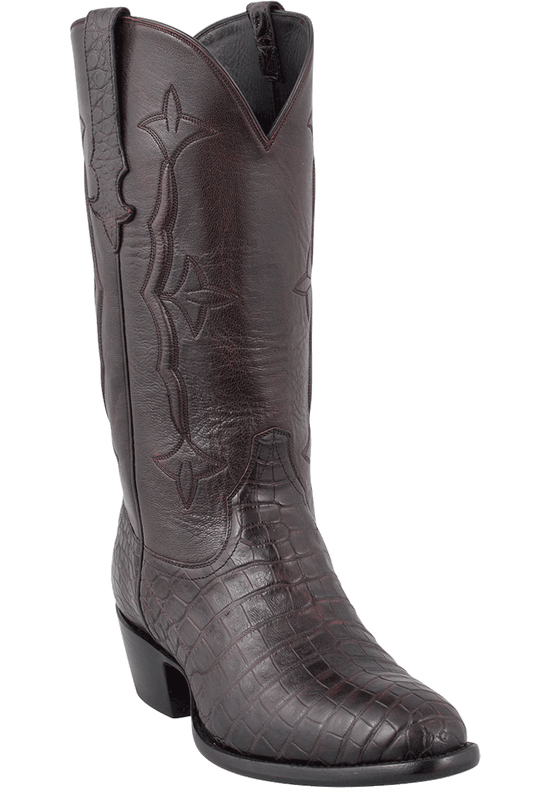 Stallion Men's Black Cherry Supreme Caiman Boots - Hero