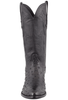 Stallion Men's Black Full-Quill Ostrich Boots - Front