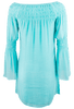 Union of Angels Zuliet Dress - Turquoise - Back
