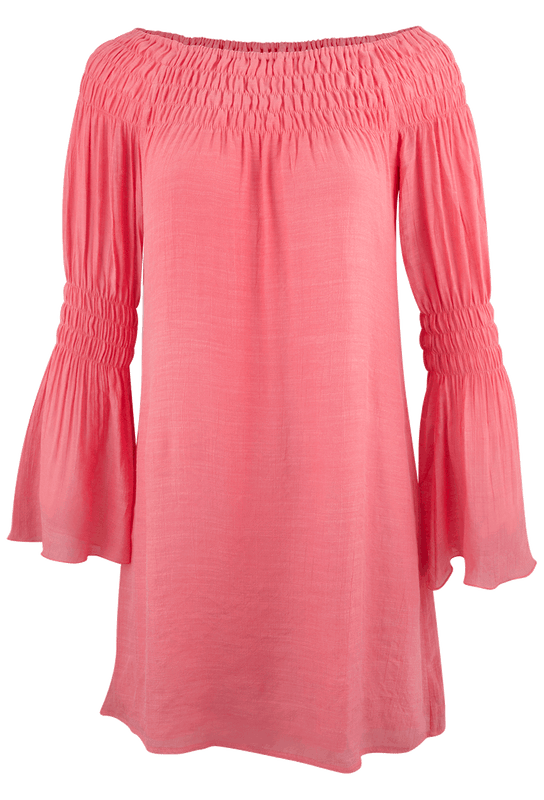 Union of Angels Zuliet Dress - Coral - Front