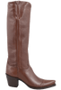 "Liberty Boot Co. Women's Chocolate Twiggy 16"" Boots - Side"