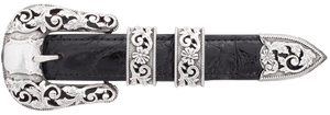 """Sunset Trails Presidio Silver Engraved 1"""" Buckle Set"""