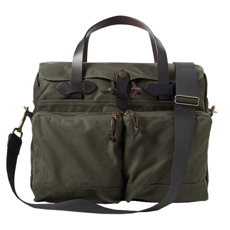 Filson 24 Hour Briefcase - Otter Green - Front