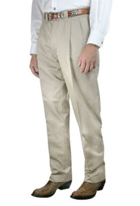 Pinto Ranch Western Pleated Cotton Pants - Front