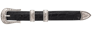 """Chacon Unknown Engraved 3/4"""" Buckle Set"""