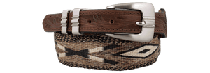 Kemo Sabe Horsehair Tapered Belt - Chocolate