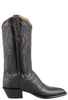 Lucchese Women's Black Lizard Boots - Side