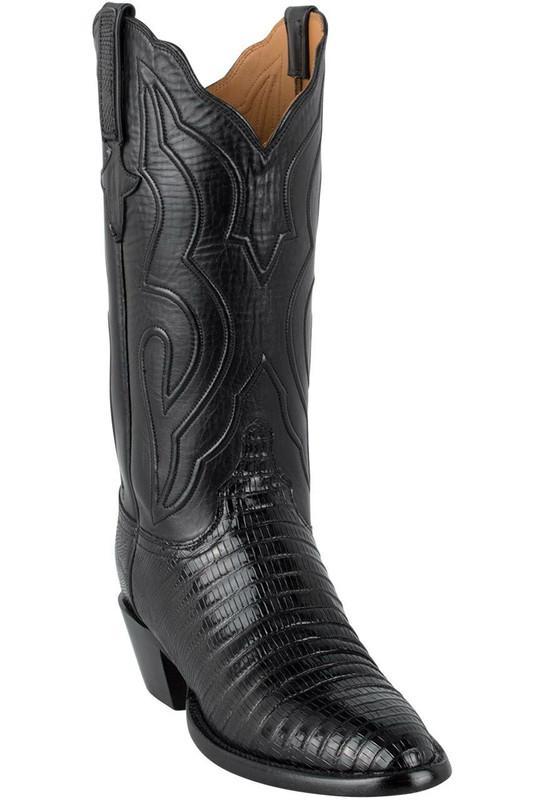 Lucchese Women's Black Lizard Boots - Hero