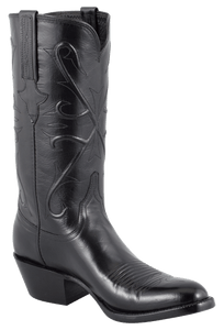 Lucchese Men's Black Kangaroo Boots - Hero