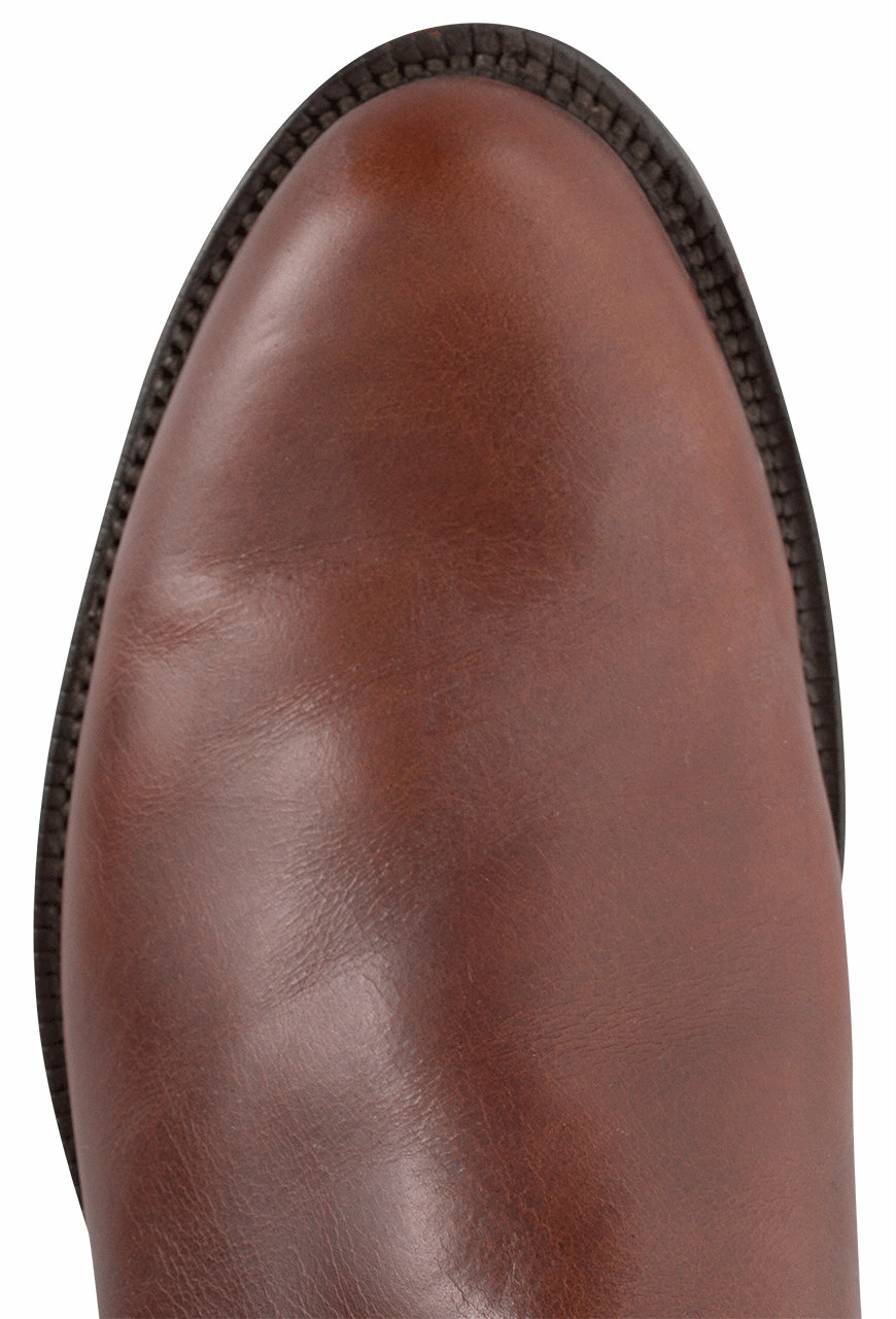 Lucchese Men S Chocolate Oiled Ranch Hand Roper Boots