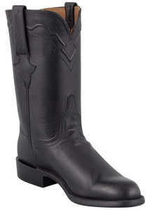 Lucchese Men's Black Ranch Hand Roper Boots - Hero