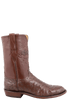 Lucchese Men's Cigar Full-Quill Ostrich Roper Boots - Side