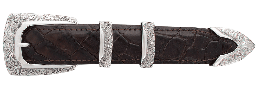 "Greg Jensen Profile Engraved 1"" Buckle Set"