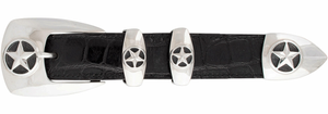 "Greg Jensen Plain Stars 1"" Buckle Set"