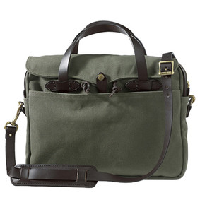 Filson Briefcase - Otter Green - Front