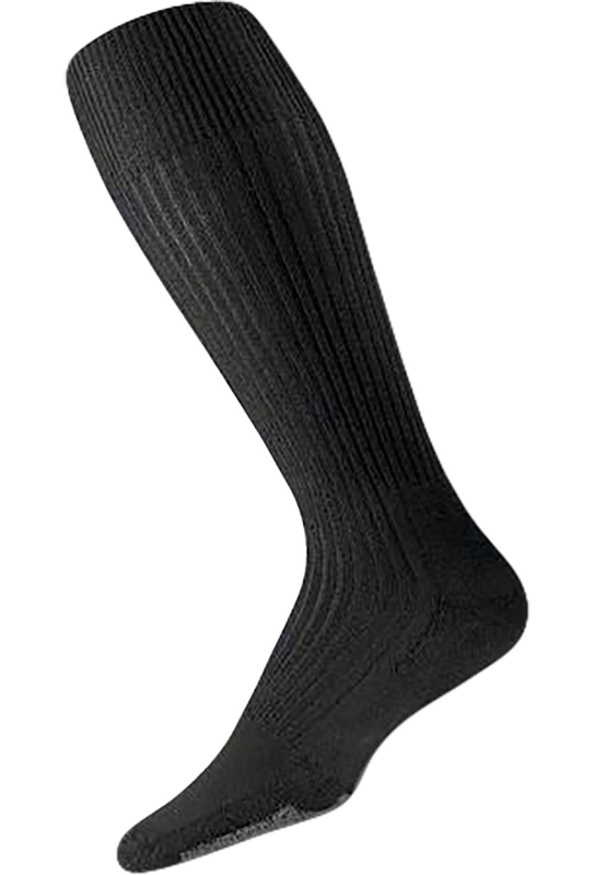 Thorlo Large Black Thin Cushion Dress Socks