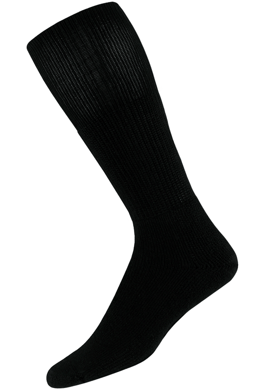 Thorlo Medium Black Western Dress Socks