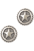 Randall Moore Silver Star Rope Edge Cufflinks - Front