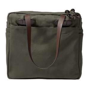 Filson Zippered Tote Bag - Otter Green - Front