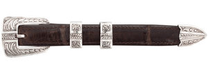 "Chacon Arrow Feathered Engraved 3/4"" Buckle Set"