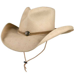 "Shady Brady - ""Julia"" Concho Straw Hat"