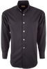 Stubbs Men's Stand-Up Collar Shirt - Black - Front