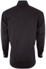 Stubbs Men's Stand-Up Collar Shirt - Black - Back